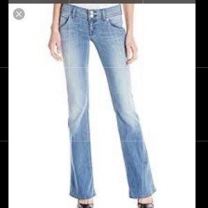 Hudson Flap Pocket Lightwash Bootcut Jeans Size 25